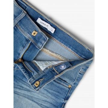 σορτς jean ελαστικό ανοιχτο μπλε light blue denim name it 13186121