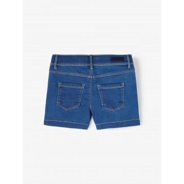 σορτς jean ελαστικό μπλε σκούρο medium blue denim name it 13186121