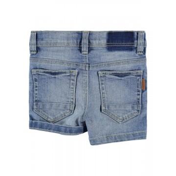 σορτς ελαστικό jean ανοιχτο μπλε light blue denim name it 13186127