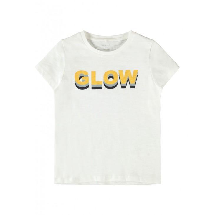 μπλουζα κοντο μανικι με σταμπα λευκο bright white name it 13186563