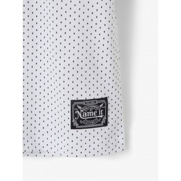 μπλουζα κοντο μανικι με γιακα,οργανικο βαμβακι,πουα λευκο bright white name it 13187121