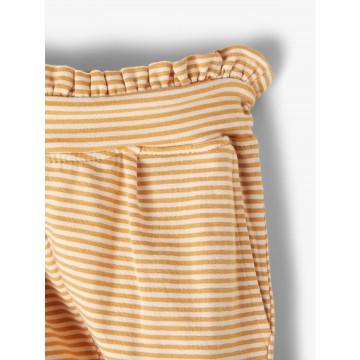 παντελονι ελαστικο ριγε,  με ζωνακι στην μεση μουσταρδι spruce yellow  name it 13187124