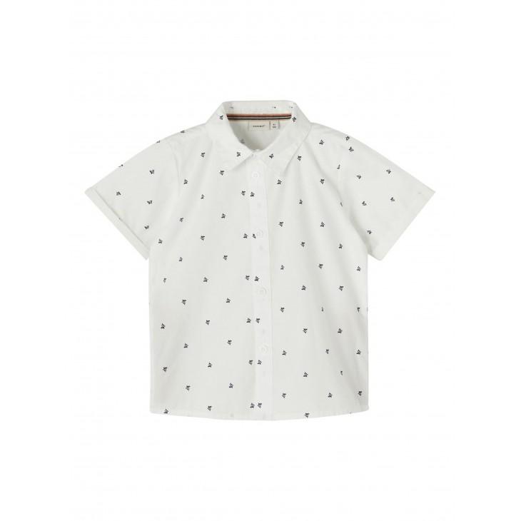 πουκάμισο κοντό μανίκι με σχέδια λευκό bright white name it 13187529
