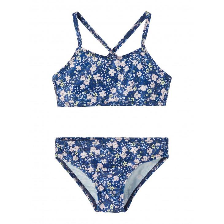 μπικίνι με λουλούδια μπλε blue depths name it 13187563
