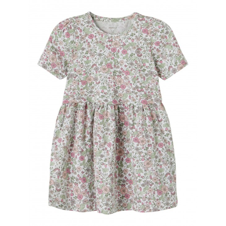 φόρεμα οργανικό βαμβάκι κοντό μανίκι με λουλούδια desert sage name it 13187626