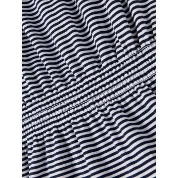 ολόσωμο οργανικό βαμβάκι ριγέ λευκό-μπλε bright white name it 13187633