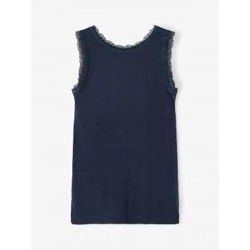 μπλούζα αμάνικη οργανικό βαμβάκι μπλε σκούρο dark sapphire name it 13187699