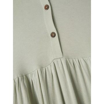 φόρεμα αμάνικο οργανικό βαμβάκι με κουμπάκια μπροστά μέντα desert sage name it 13187724