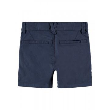 υφασμάτινο παντελονάκι με σχέδιο και τσέπες στο πλάι μπλε σκούρο dark sapphire name it 13187782