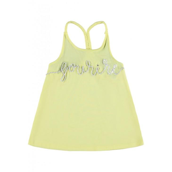 μπλούζα οργανικό βαμβάκι  ,αμάνικο και σχέδιο μπροστά λεμονί yellow pear name it 13189187