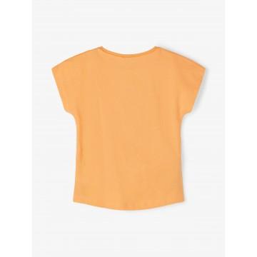 μπλούζα κοντό μανίκι οργανικό βαμβάκι με τύπωμα σομόν cantaloupe name it 13189246