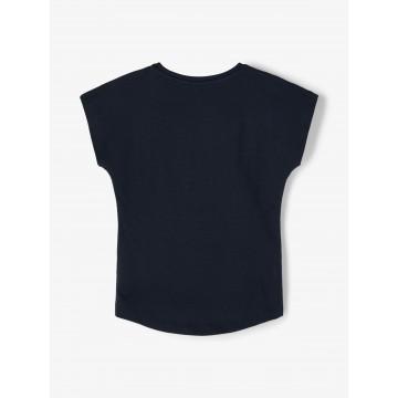 μπλούζα κοντό μανίκι οργανικό βαμβάκι με τύπωμα μπλε σκούρο dark sapphire name it 13189246