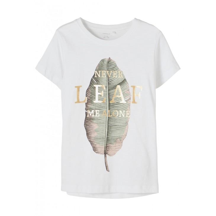 μπλούζα κοντό μανίκι με τύπωμα λευκό bright white name it 13189261