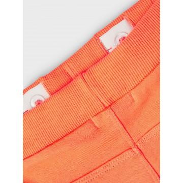 σετ κοντό μανίκι οργανικό βαμβάκι με στάμπα στην μπλούζα πορτοκαλί melon name it 13189424