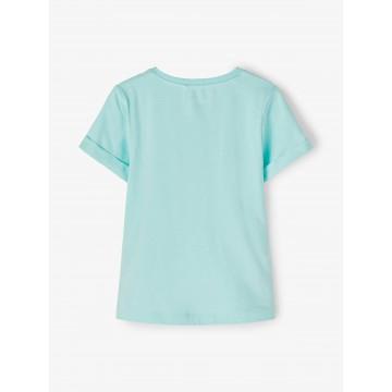 μπλούζα κοντό μανίκι με στάμπα βεραμάν blue tint name it 13189430