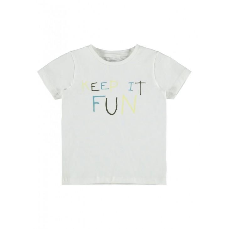 μπλούζα κοντό μανίκι οργανικό βαμβάκι με στάμπα λευκό snow white name it 13189515