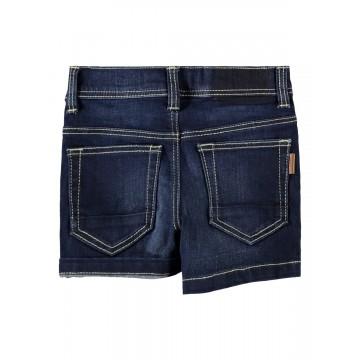 σορτς ελαστικό jean μπλε σκουρο dark blue denim name it 13186127