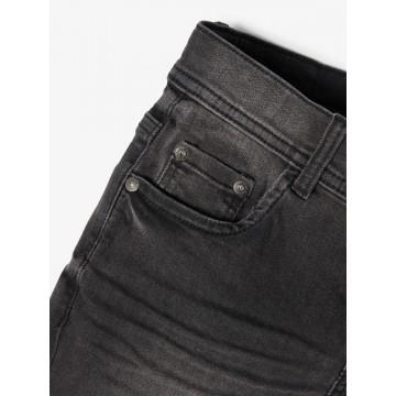 βερμούδα ελαστική jean μαυρο black denim name it 13186126