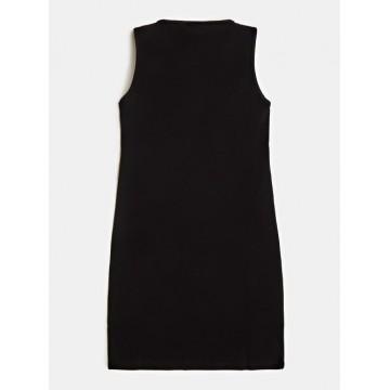 φόρεμα αμάνικο με λογότυπο μαύρο GUESS J92K57K82F0-JBLK