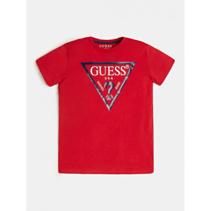 μπλούζα κοντό μανίκι με στάμπα το λογότυπο κόκκινο GUESS N73I55K5M20-RHT