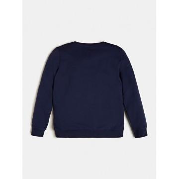 μπλούζα μακρύ μανίκι φούτερ χωρίς χνούδι,σταμπα το λογότυπο μπλε σκούρο GUESS L73Q09K5WK0-C765