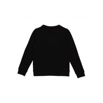 μπλούζα μακρύ μανίκι φούτερ χωρίς χνούδι με στάμπα το λογότυπο μαύρο GUESS L73Q09K5WK0-JBLK