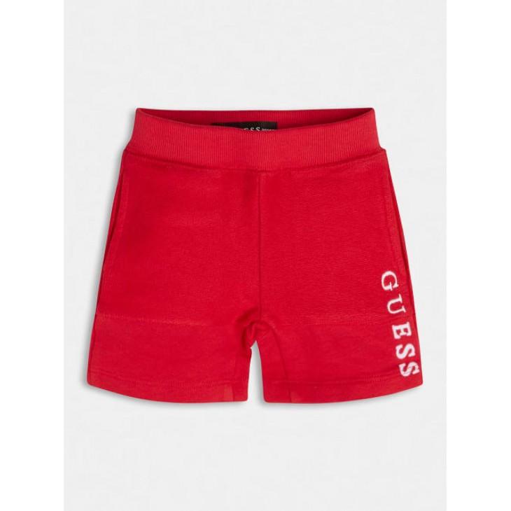 βερμούδα οργανικό βαμβάκι κόκκινο red GUESS N1RQ08KA6R0-G503