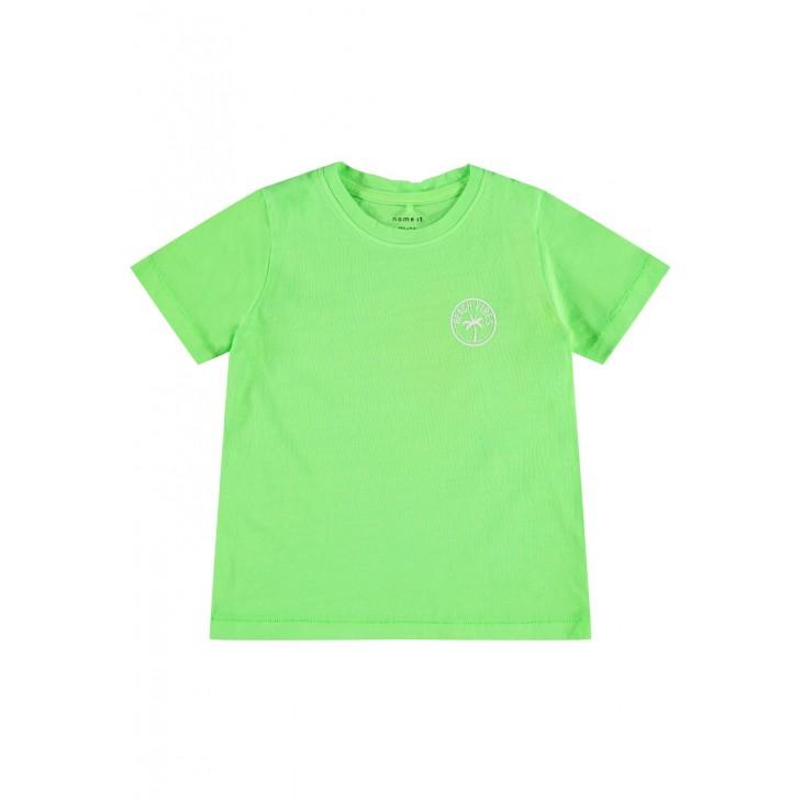 μπλούζα κοντό μανίκι οργανικό βαμβάκι λαχανί green gecko name it 13188324