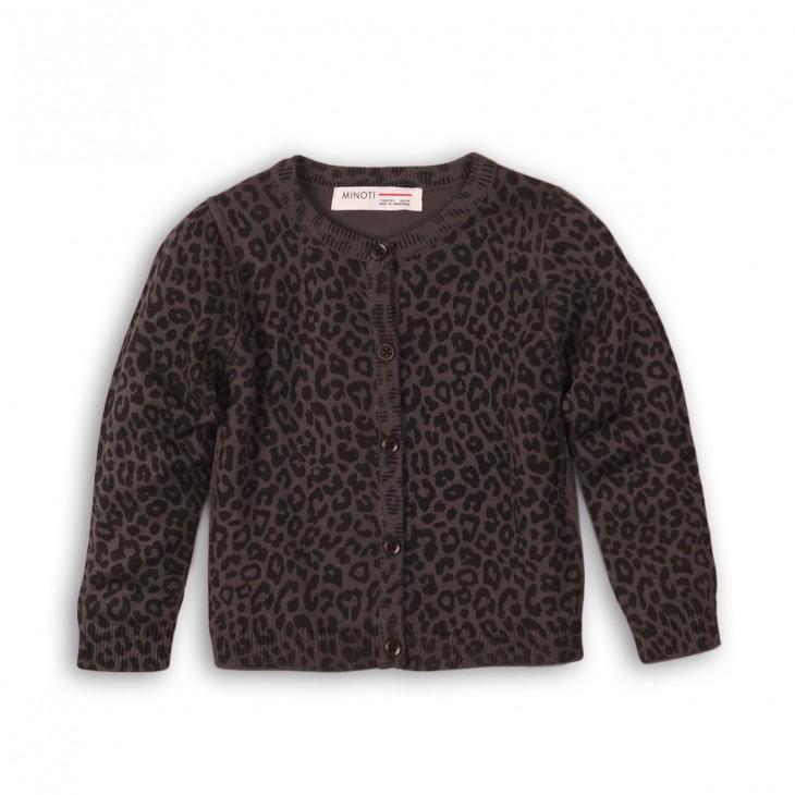 girls leopard design basic cardigan BASIC GIRL