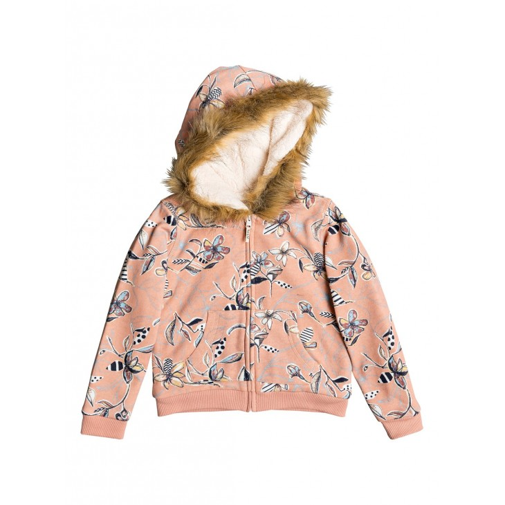 Roxy Butterflies Havin Fun   Zip up Hoodie Roxy ERLFT03151
