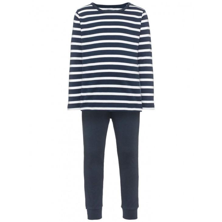 Kids striped nightset blue