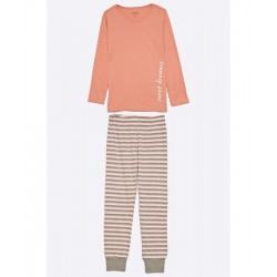 Kids striped nightset ROSE TAN