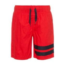 NKMZAK SWIM LONG SHORTS NMT CAMP red